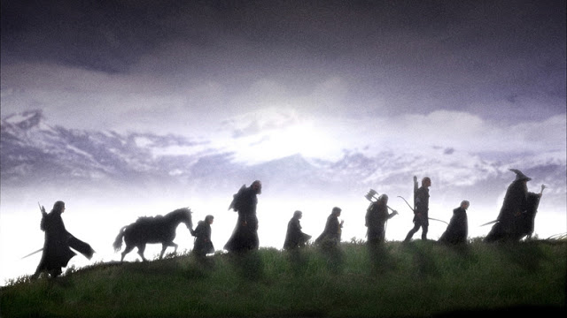 Image: Lord of the rings - the finest warriors of middle earth set out for a difficult mission to destroy the ring and save the middle earth