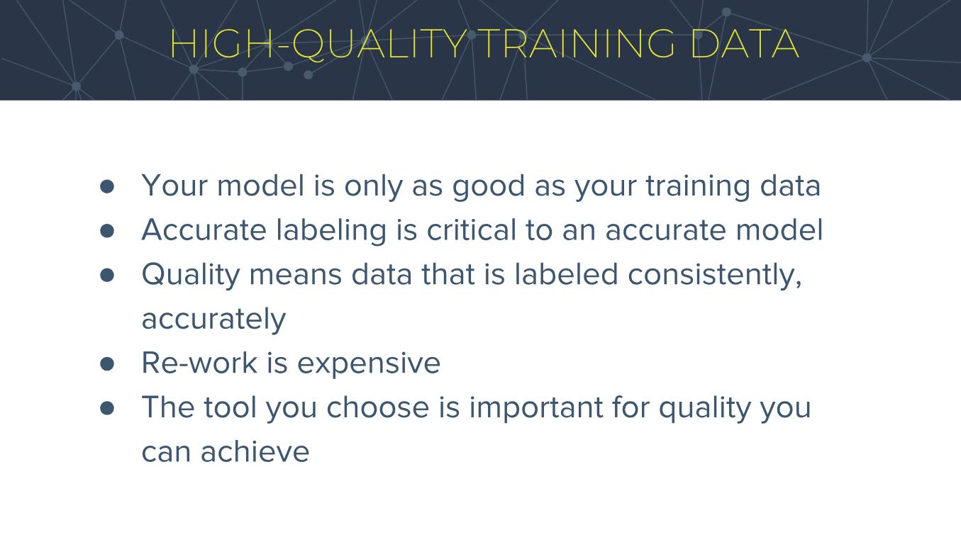 High-Quality Training Data