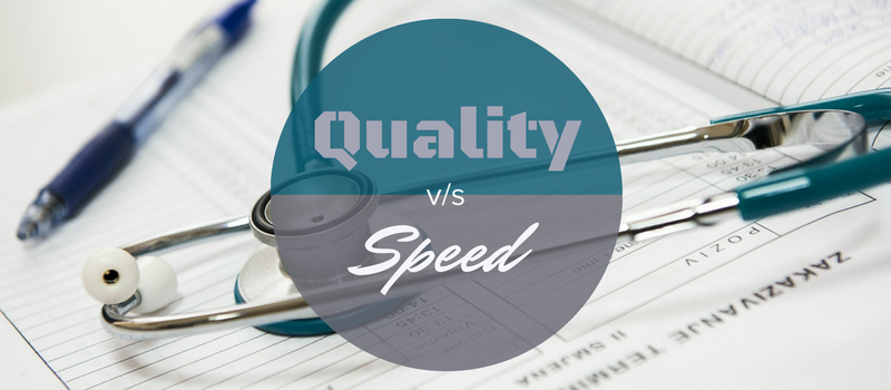Balancing quality and speed in healthcare information management