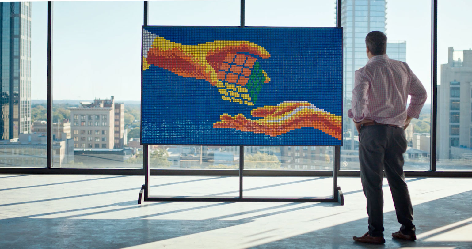 CloudFactory and Rubik's Cube® Mural