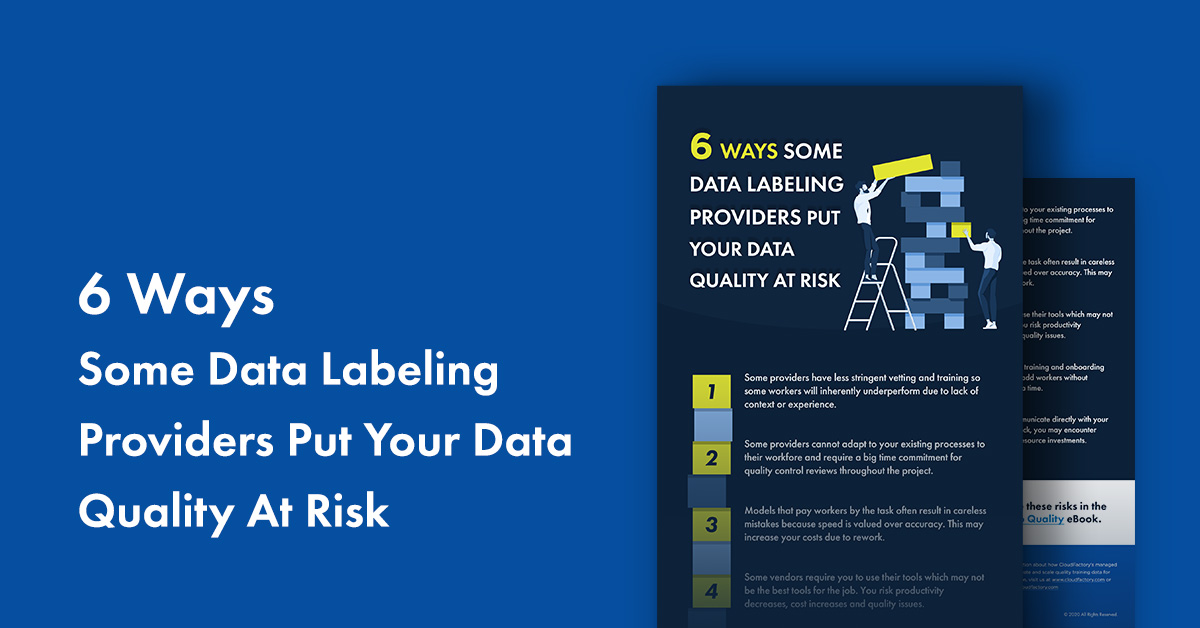 6 Ways Data Labeling Providers Put Your Data Quality At Risk [Infographic]