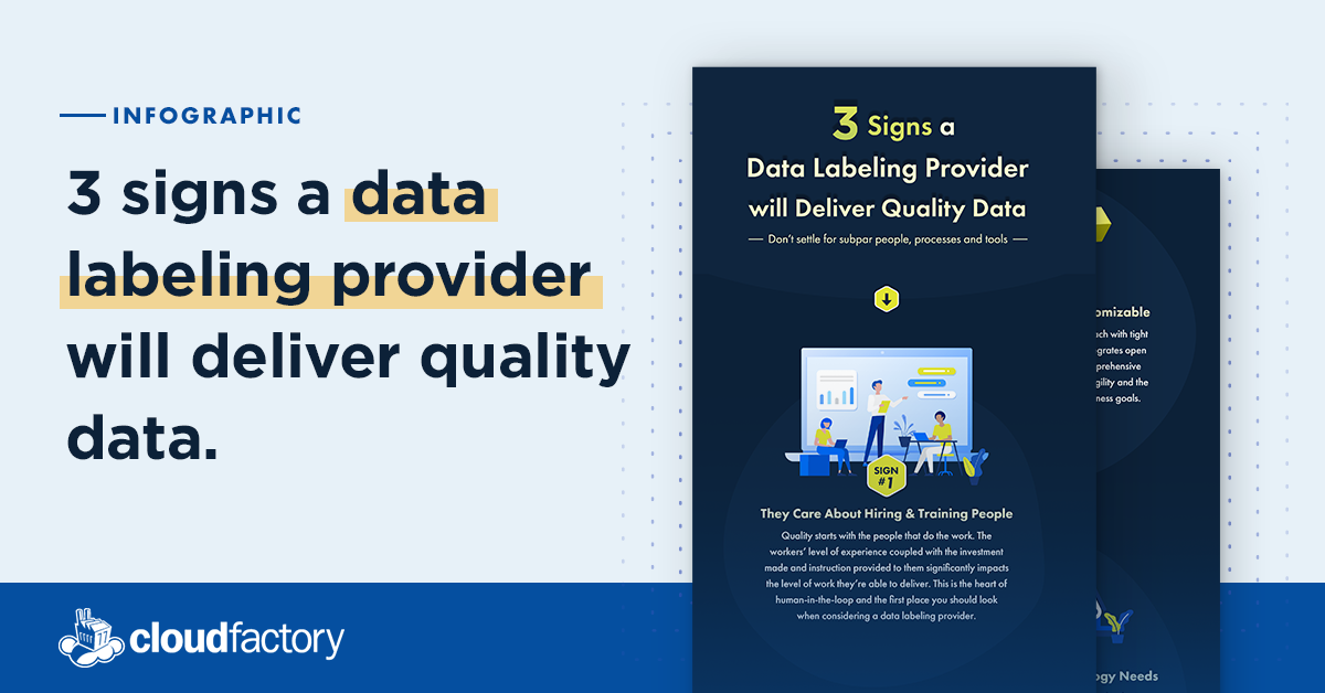 3 Signs Data Labeling Provider Delivers Quality Data [Infographic]