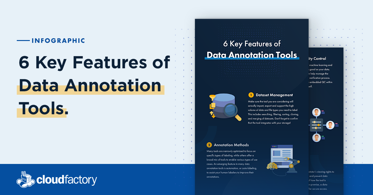 6 Key Features of Data Annotation Tools [Infographic]